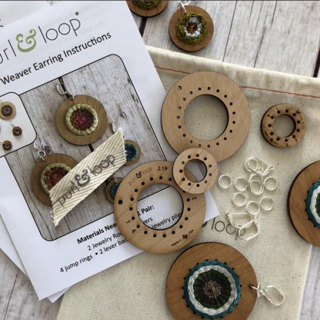 Purl & Loop Kit tissage boucles d'oreilles 5cm