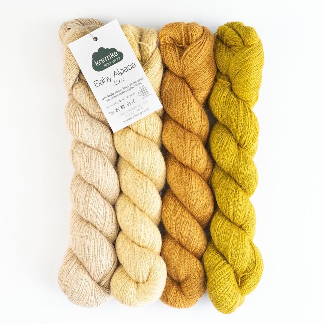 Kremke Soul Wool baby alpaga Lace  Naturweiß