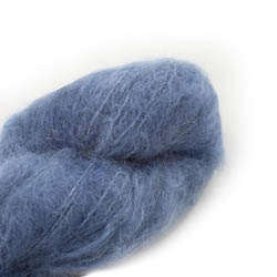 Cowgirl Blues Fluffy Mohair Semi Solids 01-Airforce