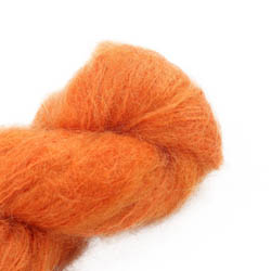 Cowgirl Blues Fluffy Mohair Semi Solids 42-Carrot Juice