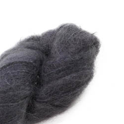 Cowgirl Blues Fluffy Mohair Semi Solids 02-Charcoal