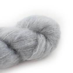 Cowgirl Blues Fluffy Mohair Semi Solids 03-Silver Fox