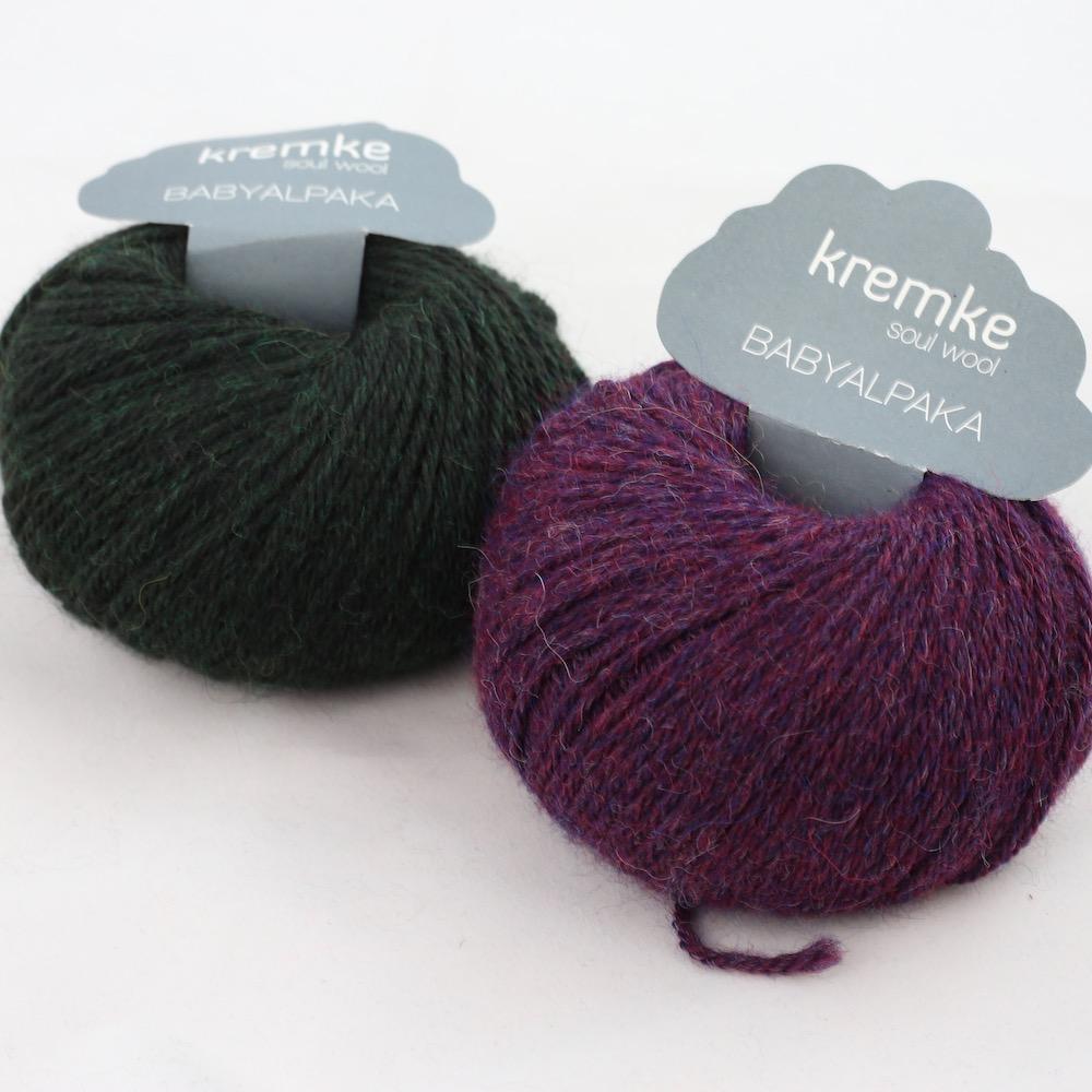 Kremke Soul Wool Baby Alpaka Pflaume Waldgrün