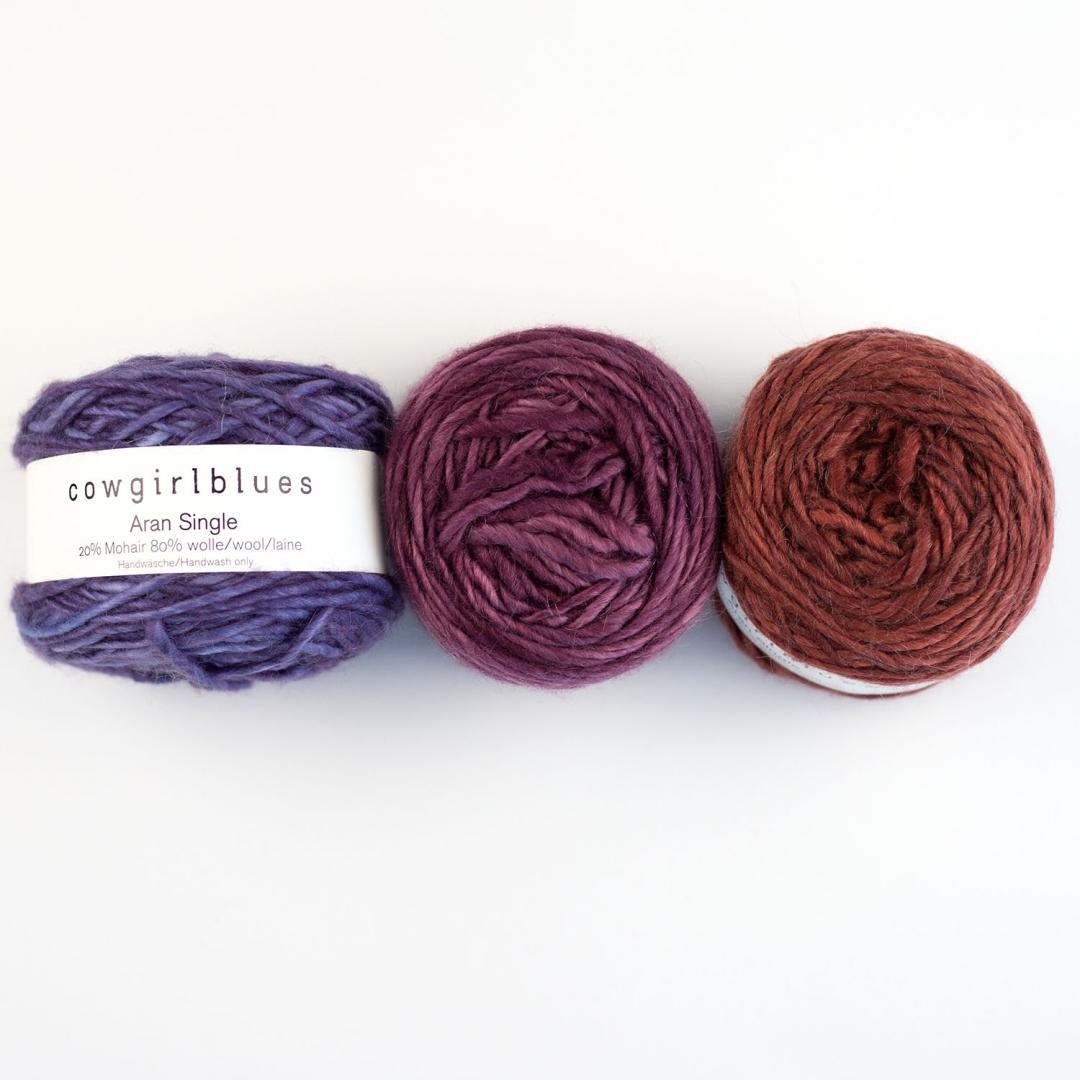 Cowgirl Blues Aran single uni (100g)