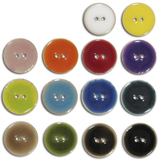 Jim Knopf Bouton en coco, effet céramique, existe en plusieurs tailles