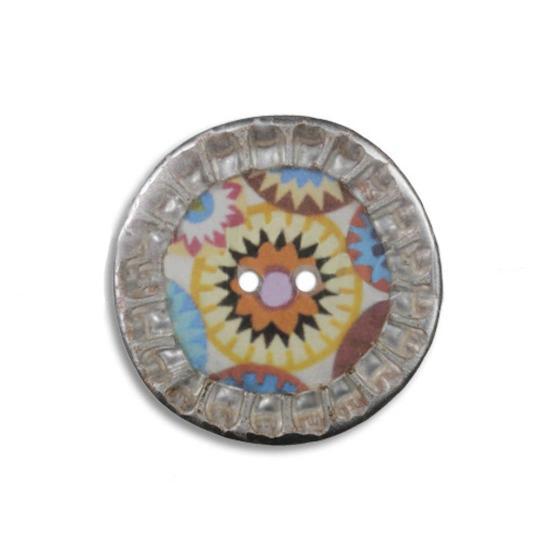 Jim Knopf Bouton coloré, capsules recyclées 28mm