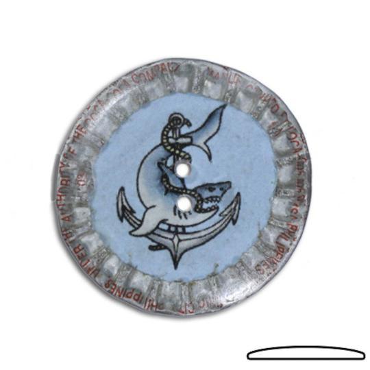 Jim Knopf bouton, capsules recyclées, 31mm