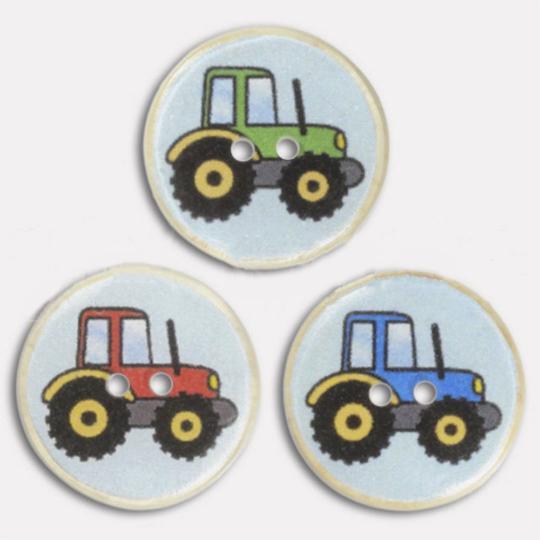 Jim Knopf bouton résine tracteurs 17mm