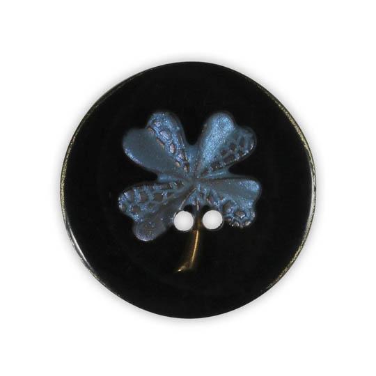 Jim Knopf Bouton résine motif fleurs 18mm