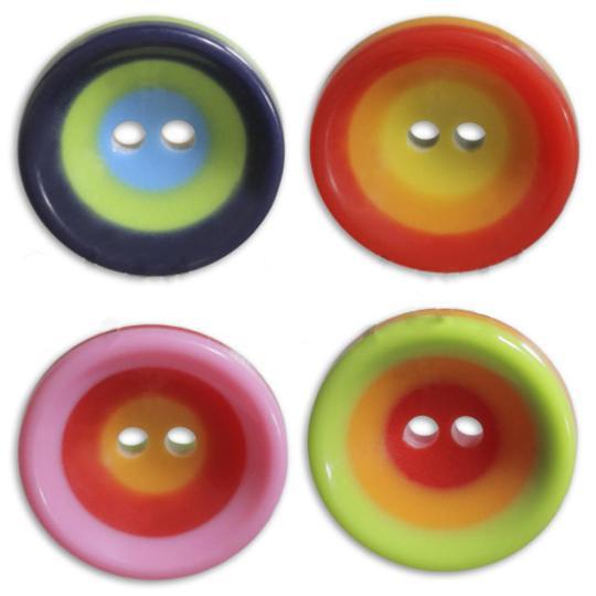 Jim Knopf Boutons cercles colorés, 16mm